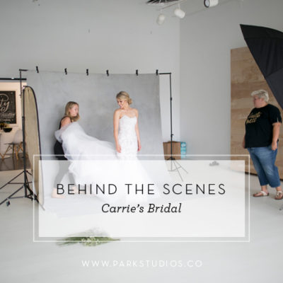 Behind the Scenes: Carrie's Bridal Photoshoot