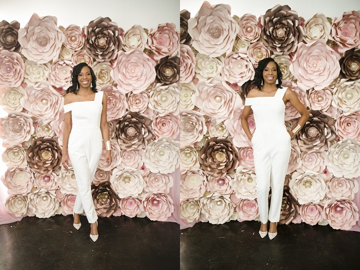 floral photo booth wall