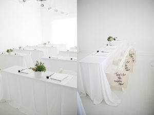 beautiful white tables