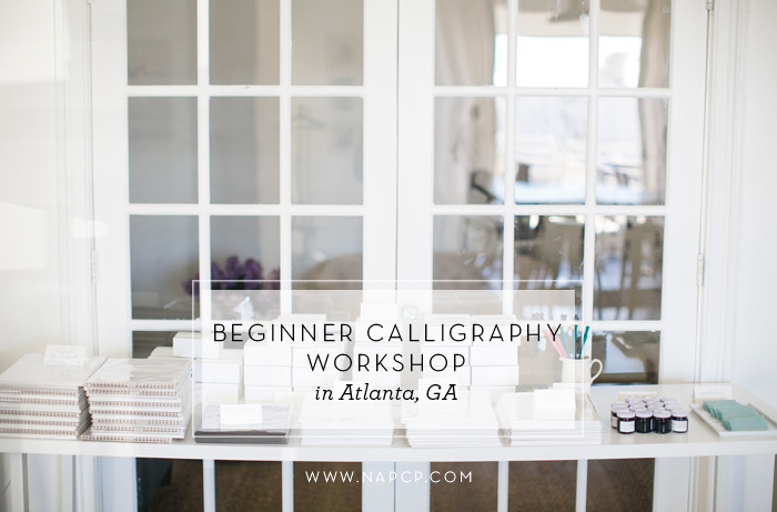beginner calligraphy workshop atlanta