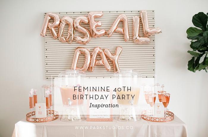 rose all day balloon installation