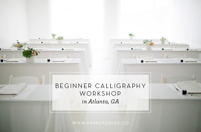 Laura Hooper calligraphy workshop at Park Studios Atlanta