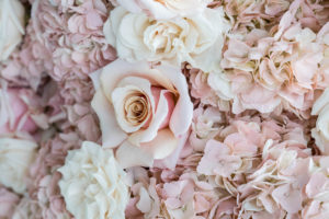 stunning and lush blush floral table runner