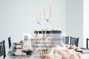 black and blush wedding table