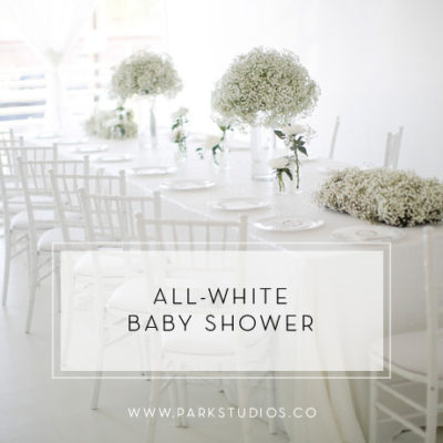 We're Loving This All-White Baby Shower