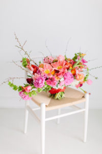 punchy wedding florals by Stylish Stems