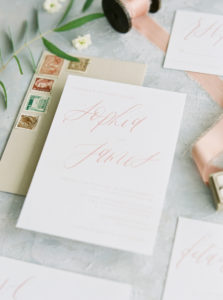 spring wedding stationery suite