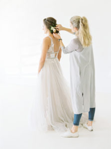 spring bride hair styling