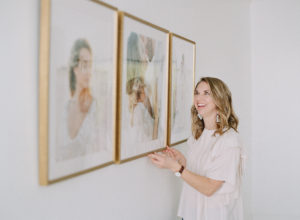 framed wedding prints installed by Anna Olivia Photography