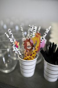 wild one paper straws