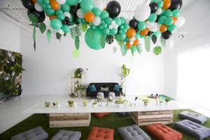creative wild one balloon installation