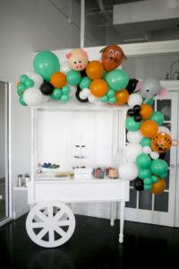 balloon cart for wild one birthday at Park Studios Atlanta