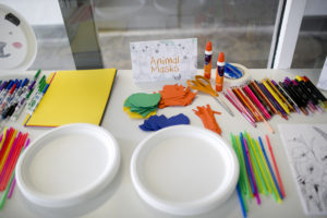 wild one birthday craft table