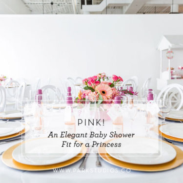 pink elegant baby shower